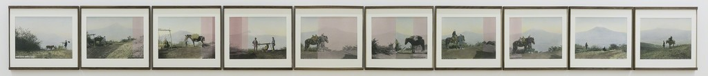 Linda Fregni Nagler, Fuji From Otometoge, 2018 10 hand colored gelatin silver prints, cm 30,7 x 33 each