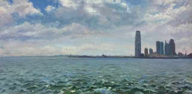 , 'At the Mouth of the Hudson; Statue of Liberty, Ellis Island, and Exchange Place, Jersey City ,' 2009, Blue Mountain Gallery