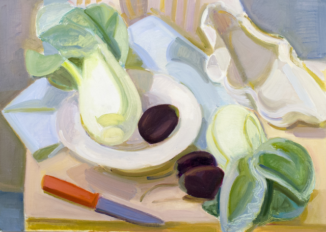 , 'Bok Choy, Shell and Eggplant,' 2012, BCK Fine Arts Gallery at Montauk
