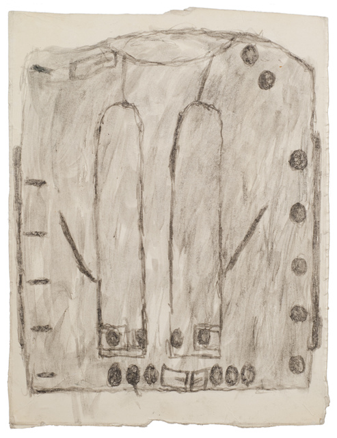 James Castle, 'Untitled (Straight jacket drawing)', n.d., Fleisher/Ollman