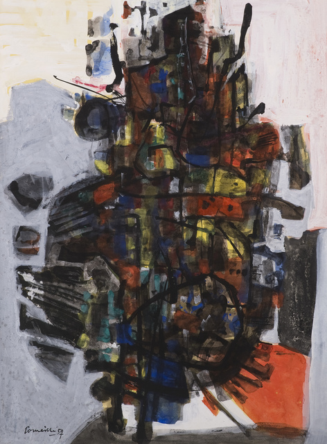 Corneille, 'Desert Fleurissant', 1957, Drawing, Collage or other Work on Paper, Goauche, Jaski