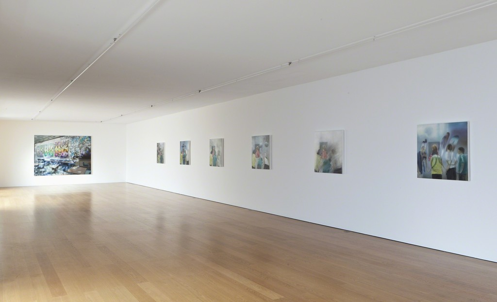 Installation view Karin Kneffel at Galerie Rüdiger Schöttle, 2016.
