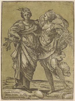 Bartolomeo Coriolano after Guido Reni, 'Alliance of Peace and Abundance', 1627, Print, Chiaroscuro woodcut, National Gallery of Art, Washington, D.C.