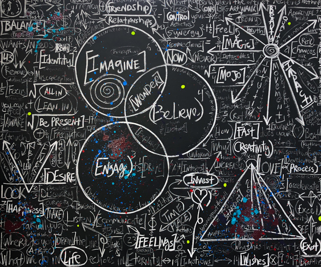 , 'Chalkboard Series: Invest,' 2018, Contessa Gallery