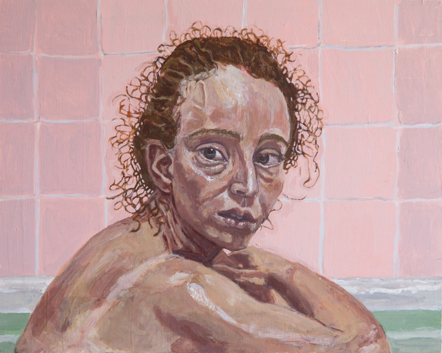 , 'Pink Bath,' 2016, John Davis Gallery
