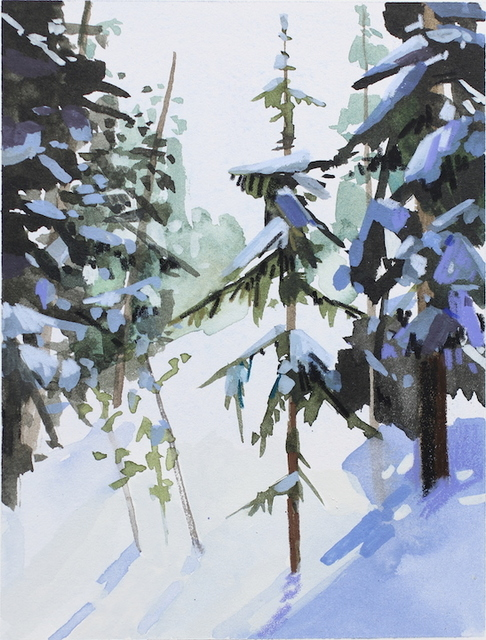 , 'Snow and Trees,' 2015, DC Moore Gallery