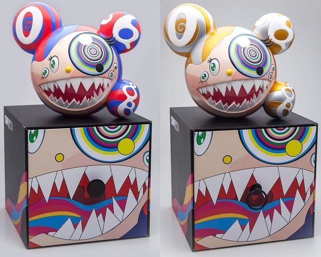 Takashi Murakami, 'Mr DOB Figure By BAIT x SWITCH Collectibles - Set of 2 (Gold & Red)', 2016, Lougher Contemporary