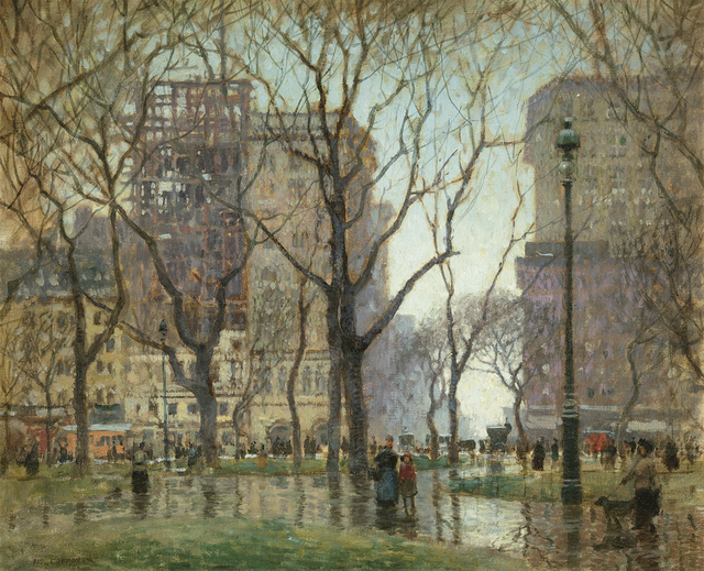 Paul Cornoyer, 'Rainy Day, Madison Square', Date Unknown, Questroyal Fine Art