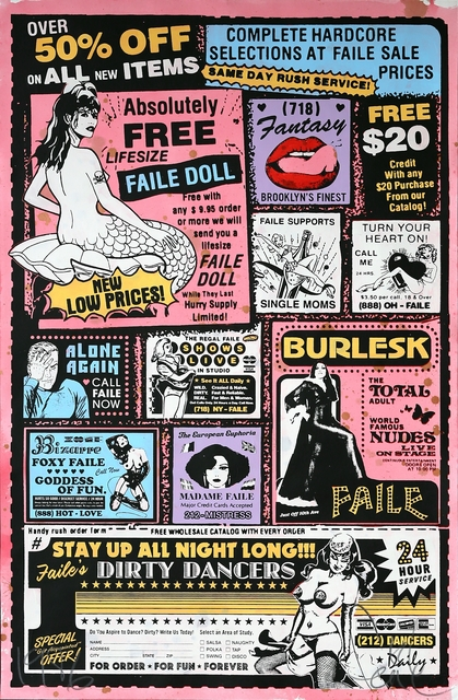 FAILE, 'Sexy Ad (Colour)', 2007, Print, Acrylic and silkscreen on paper, Addicted Art Gallery