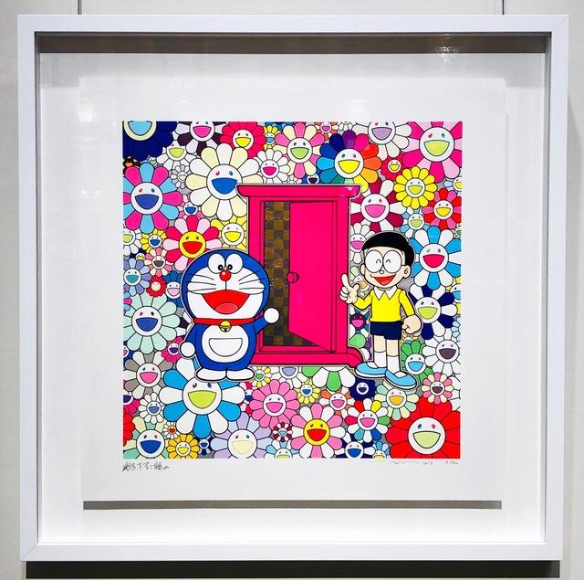 Takashi Murakami, 'Doraemon: Anywhere Door (Dokodemo Door) In The Field Of Flowers', 2019, Lex Art Gallery