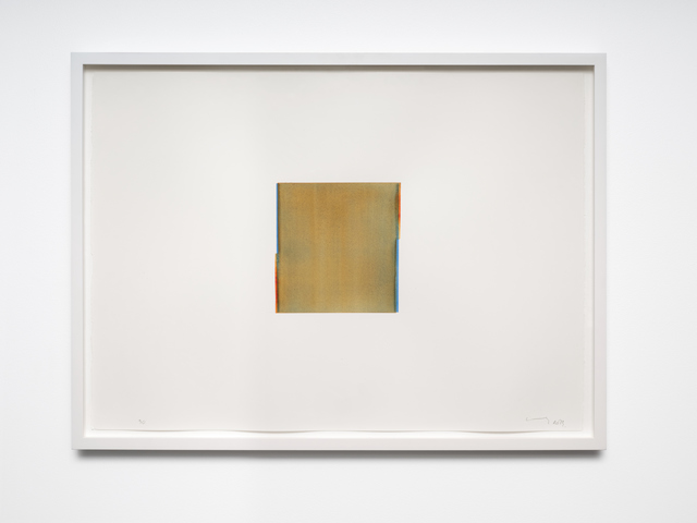 Callum Innes, 'Cerulean Blue / Quincadrone Gold (no. 30.)', 2013, Drawing, Collage or other Work on Paper, Watercolour on 600gsm Fabriano Artistico HP, i8 Gallery