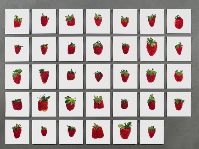 , 'One pound of strawberries, Hans-Peter Feldmann,' , East Gallery at Norwich University of the Arts (NUA)