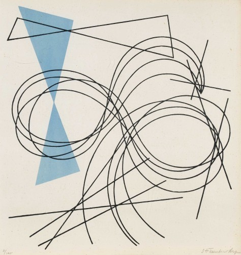 ", 'Passion de lignes. Plate 5 from the portfolio ""5 compositionen + 5 constructionen"",' 1941, Faessler & Ochsner"