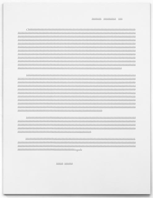 , 'Apollinaire's Misspell I (White),' 2017, Kohn Gallery