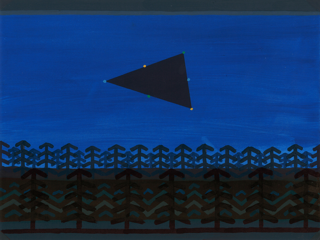 , 'Giant Triangle with multicolored outlining lights - Sequim, WA,' 2015, G. Gibson Gallery