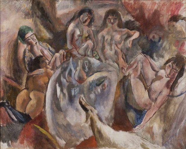 Jules Pascin, 'L'attente de l'enfant prodigue', 1918, Painting, Oil on canvas, Alon Zakaim Fine Art