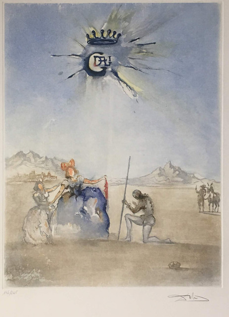 Salvador Dalí, 'Hommage a Dulcinee (Homage to Dulcinea)', 1974, Print, Lithograph on paper, Baterbys