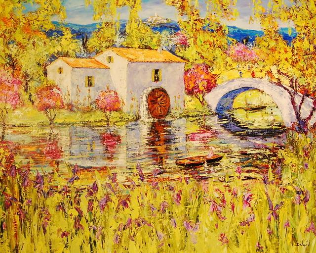 , 'Le Ponte de la Riviere,' , Baterbys Art Gallery