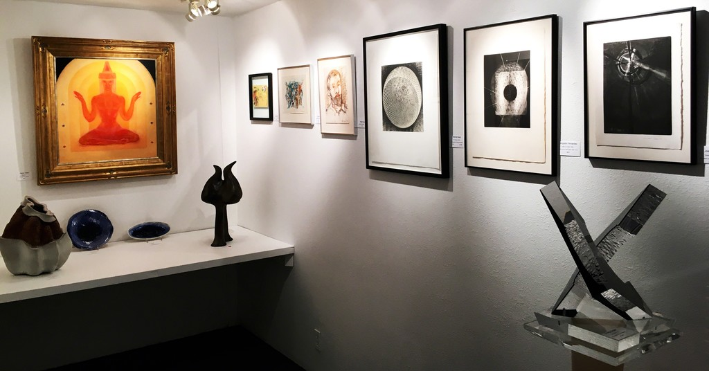 Middle gallery installation (from left):