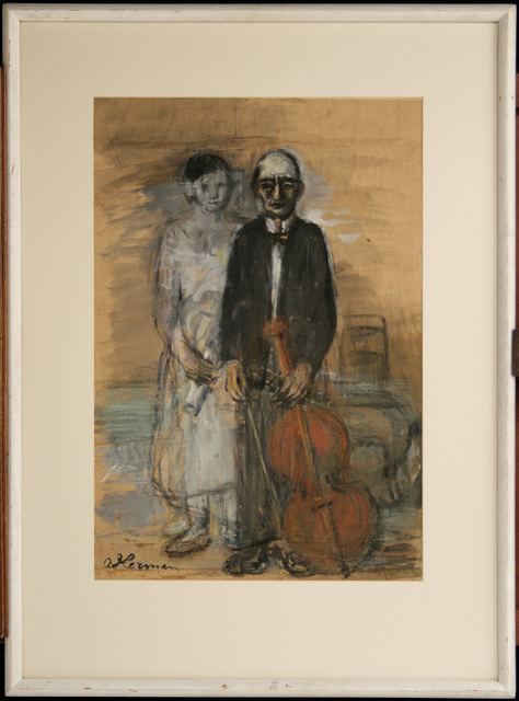 OSKAR HERMAN, 'The Old Musician', 1940-1950, Museum of Modern Art Dubrovnik