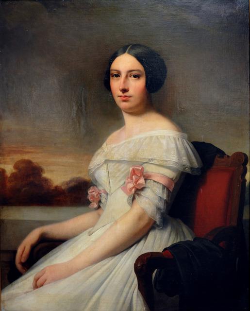 RICARDO FEDERICO DE MADRAZO GARRETA, 'Retrato Dama Sentada', 1833, Gabarron Foundation