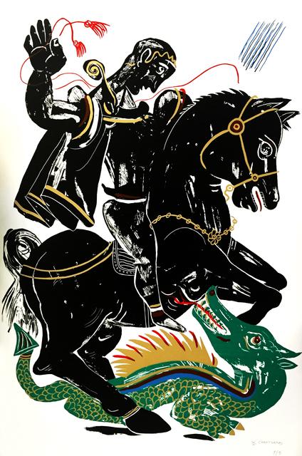 Apostolos Chantzaras, 'Hero - Black and Green', 2015, DECORAZONgallery