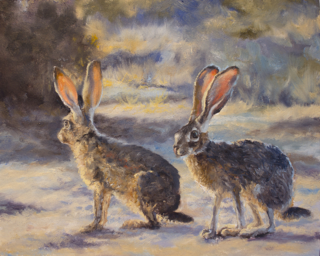, 'Pair of Jack Rabbits,' 2018, Joshua Tree Art Gallery