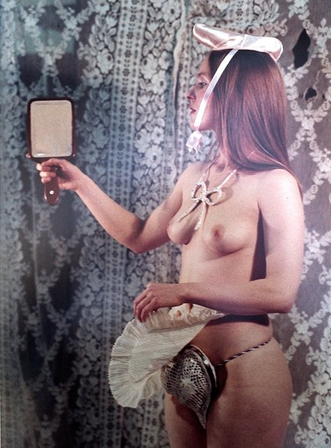 , 'Study for A Divertissement: Jo and Porcelain Cache-Sexe,' 1973, Richard Saltoun