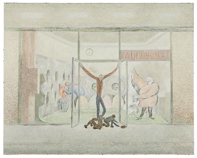 , 'Laundromat Sketch,' 2013, Fleisher/Ollman