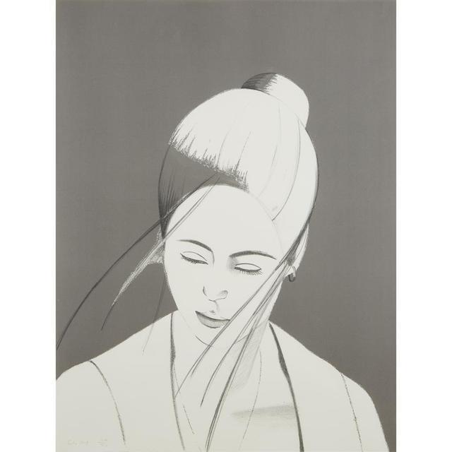Alex Katz, 'Pamela (Pamela in Gray)', 1976, Lillian Heidenberg Fine Art
