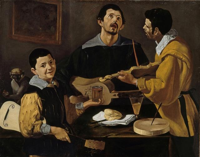 , 'Die drei Musikanten,' 1616-1620, Gemäldegalerie Alte Meister