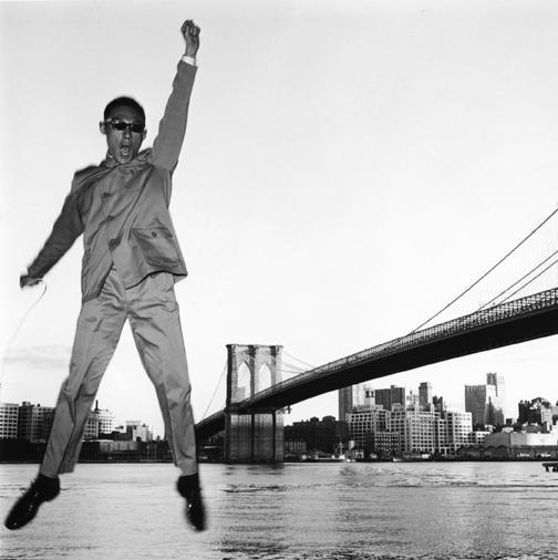 Tseng Kwong Chi, 'New York, New York (Brooklyn Bridge)', 1979, Grey Art Gallery