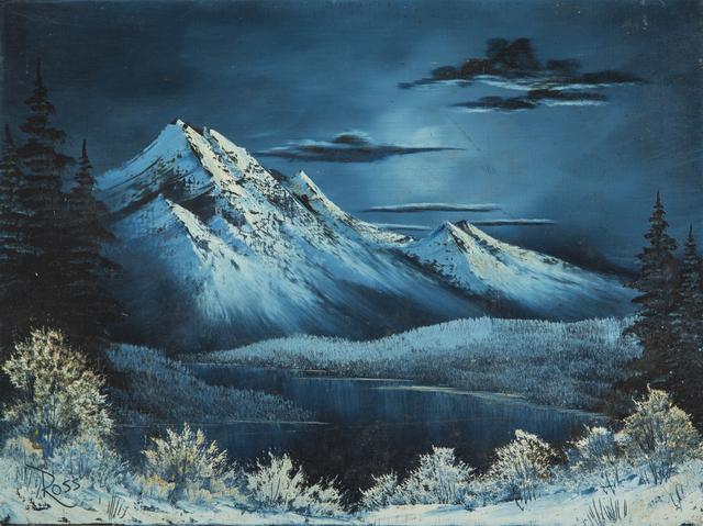 Bob Ross, 'Bob Ross Signed Original Winter Mountain Lake Contemporary Art Painting', 1980-2010, Modern Artifact