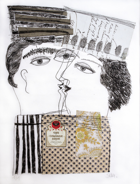 Kristiane Semar, 'Roots in Mesmerism', 2015, Monotype and Collage, Dreipunkt Edition