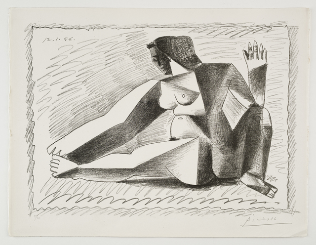 Pablo Picasso, 'Femme accroupie aux Bras levés', 1956, Lithograph printed in black, Frederick Mulder