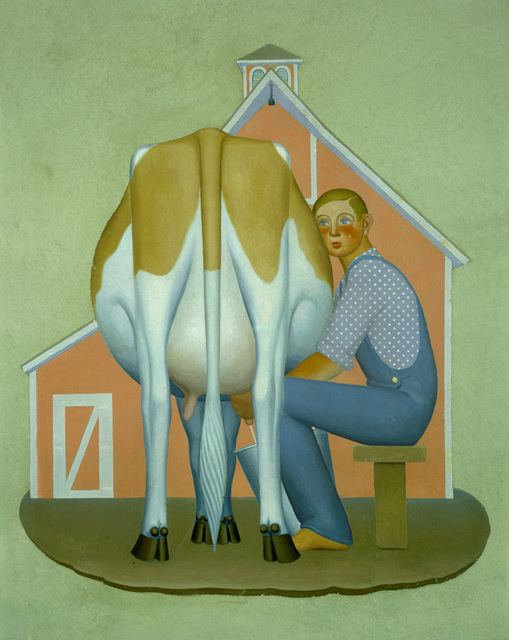 , 'Boy Milking Cow,' 1932, Whitney Museum of American Art