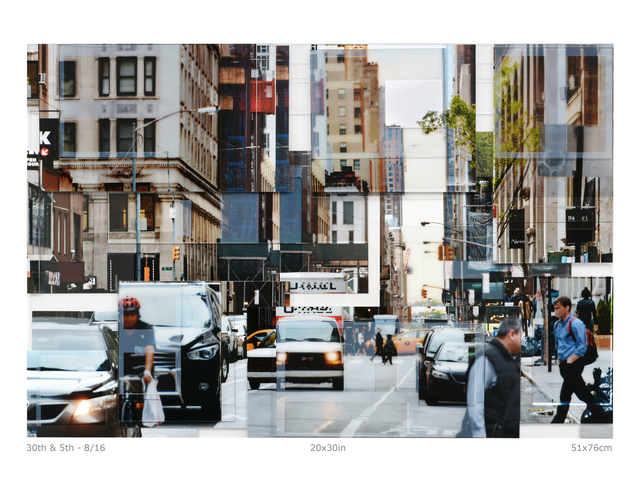 Phil Stein, '30th & 5th ', 2018, Photography, Photography on plexi collage, Abbozzo Gallery