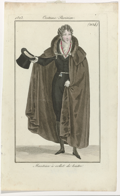 , '15 Janvier 1823, (2124): Manteau à collet de loutre (January 15, 1823 [2124]: Coat with otter collar),' 1823, Rijksmuseum