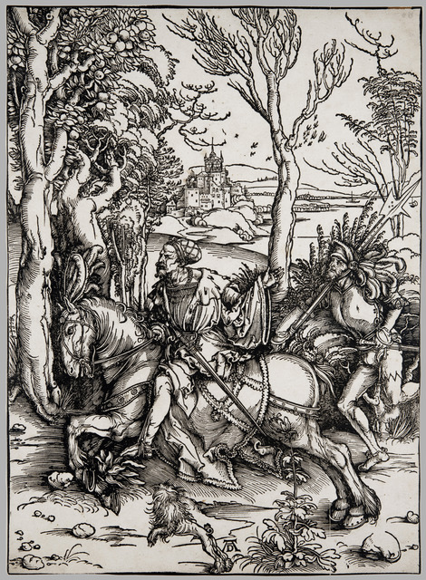 , 'The Knight on Horseback and the Landsknecht,' ca. 1496, David Tunick, Inc.