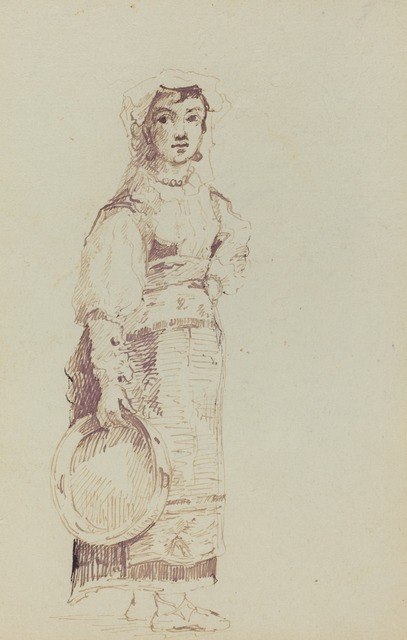 Jean-Louis-Ernest Meissonier, 'Woman with a Tambourine (verso)', ca. 1860, National Gallery of Art, Washington, D.C.