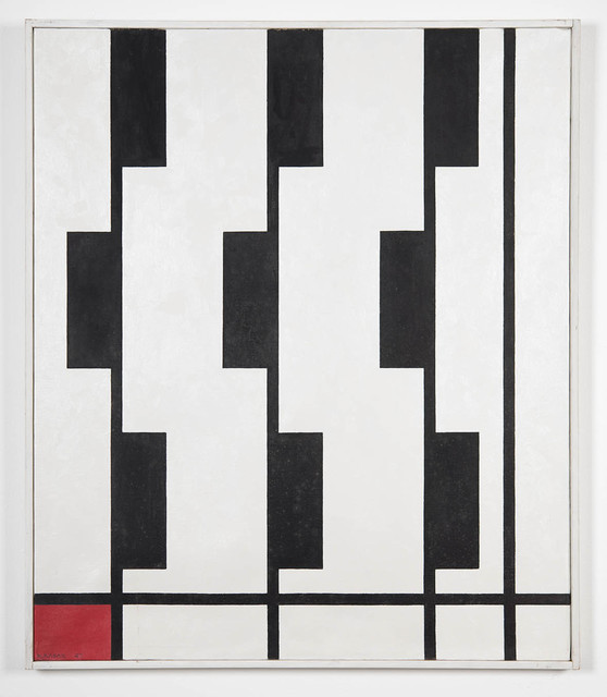 , 'Rhythm on Vertical Axes, black,' 1947, Sammer Gallery LLC