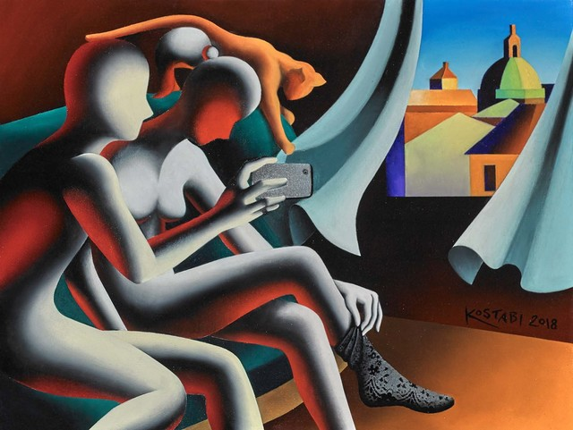 Mark Kostabi, 'The Fabric of Vanity', 2018, Martin Lawrence Galleries