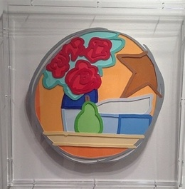 Tom Wesselmann, 'Still Life with Four Roses and Pear', 1993, Sculpture, Mixed media on cut out steel, David Benrimon Fine Art