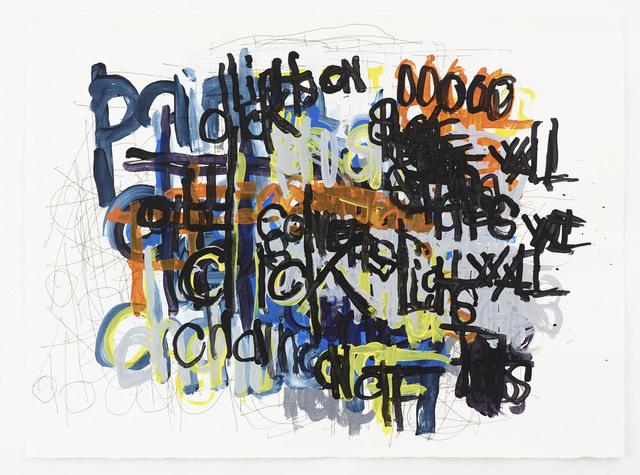 """, '""""Untitled (Black, blue, orange """"Click""""),' 2012, Diane Rosenstein"""