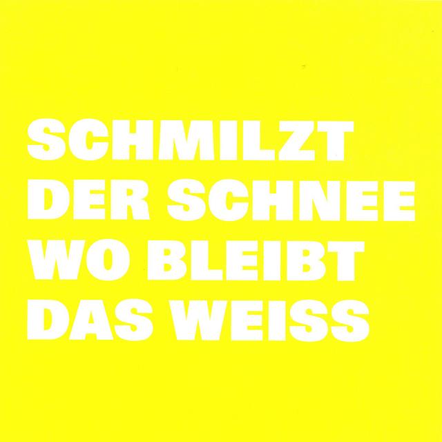 , 'Lichthof, SCHMILZT/ DER SCHNEE/ WO BLEIBT/ DAS WEISS,' , Galerie Nordenhake