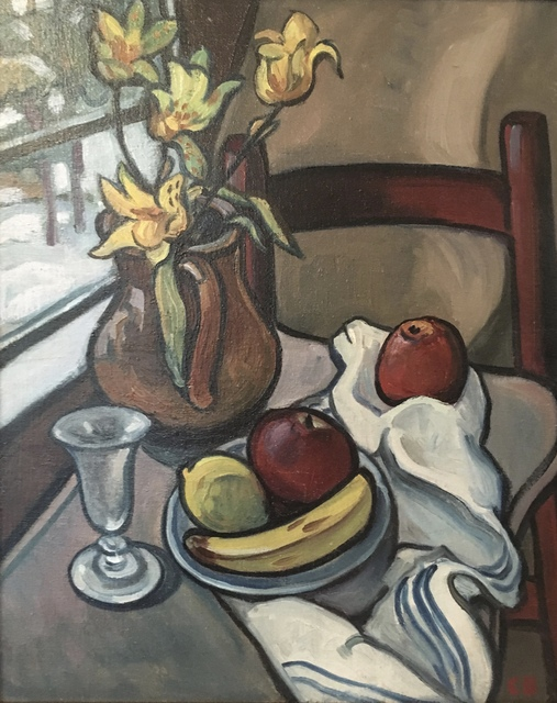 , 'Still Life With Yellow Tulips,' Mid-20th century, Bakker Gallery