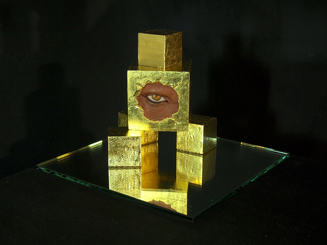 , 'The Perceiving Bricks (Gold),' 2016, Vinyl on Vinyl
