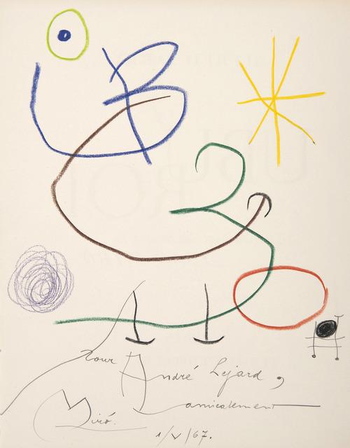 Joan Miró, 'Ubu roi', 1967, HELENE BAILLY GALLERY