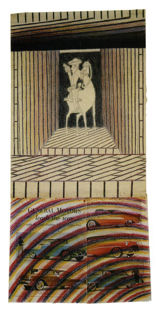 Martín Ramírez, 'Untitled (Horse and Rider)', c. 1950, Robert Berman Gallery