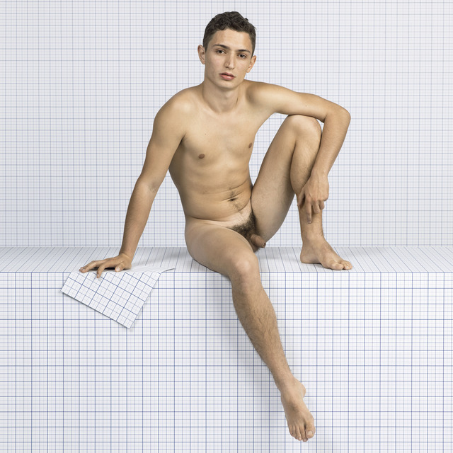 , 'Naked Boy Sitting Down, Looking Towards Camera,' 2014, Loock Galerie
